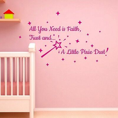 All You Need is Faith Wall Sticker Quote Art Bedroom Colour Choose Top Seller
