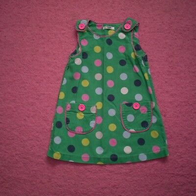 "Girls ""Boden"" Green/Multi Large Polka Dot Needle Cord Dress for Age 2-3 years"
