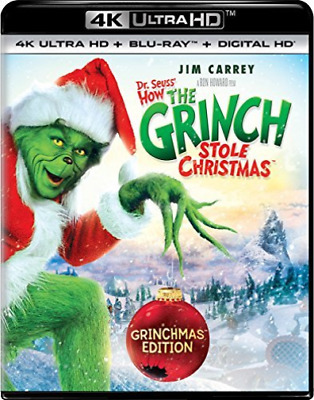 `CARREY,JIM`-4K Blu-Ray - DR SEUSS HOW THE GRINCH STOLE CHRISTM Blu-Ray NEW