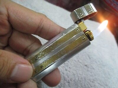 Vintage Cartier79947 Silver And Gold Plated Swiss Lighter Rare