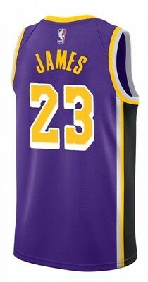 Nuova Canotta/jersey Collezione-Basket Nba-Los Angeles Lakers-Lebron James Viola