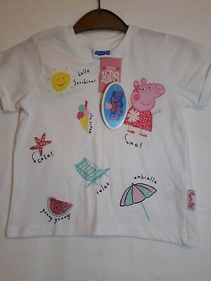 Peppa Pig T Shirt Top Girls Age 2/3 Yrs New w/Tags W001