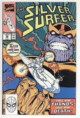 Silver Surfer #34 (1990) VF 8.0 Return of Thanos Infinity Gauntlet War *FREE S/H