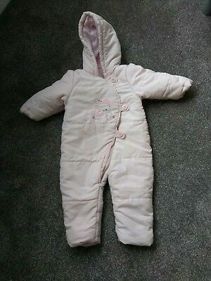 Mothercare Pink All In One Suit / Pramsuit 9-12 Months