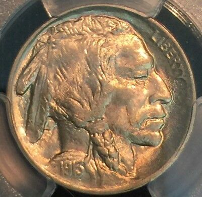 1913 Type 1 Buffalo Nickel MS 64 PCGS NO RESERVE AUCTION !!!!!
