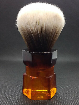Yaqi 24mm Moka Express Mew Brown Synthetic Hair  Shaving Brush R1737-24