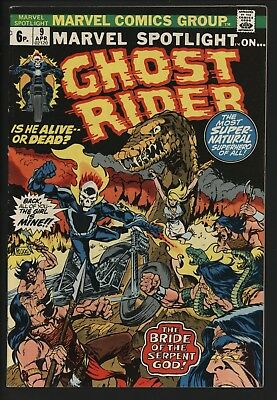 Marvel Spotlight #9 Ghost Rider! Nice Glossy Copy With White Pages