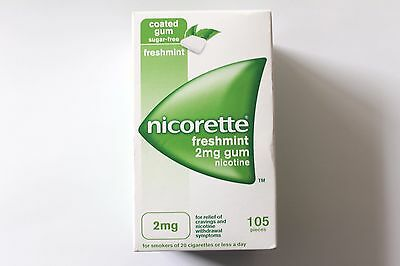 Nicorette Freshmint Flavour 2mg Sugar-Free Coated Gum - 105 Pieces