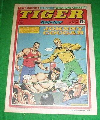Tiger Comic 1979 With Hampshire Cricket Team  Poster & Joe Jordan  Man.utd
