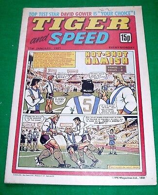 Tiger Comic 31/1/1981 With  Bolton Wanderers  Team Colour Centrefold Poster