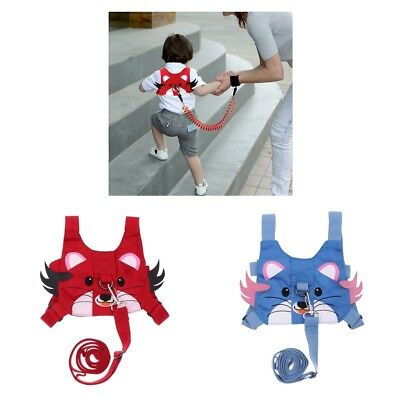 2xBaby Anti-lost Backpack Walking Safety Belt Harness Reins Strap with Leash