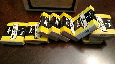 Large Mixed Lot of ZENITH FUSE CARTRIDGES, 9 boxes, SEE DESCRIPTION