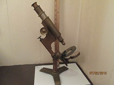 """Vintage Early Bausch & Lomb Microscope - Model """" Investigator """""""