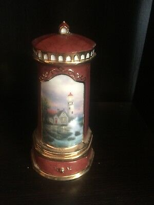 Two Thomas Kinkade lighthouse musicbox