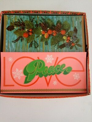 Unused, vintage 1970s Christmas cards with matching envelopes