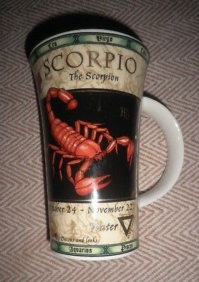 Dunoon Fine Stoneware Scorpio Tall Mug Zodiac By Jack Dadd Very Good Condition