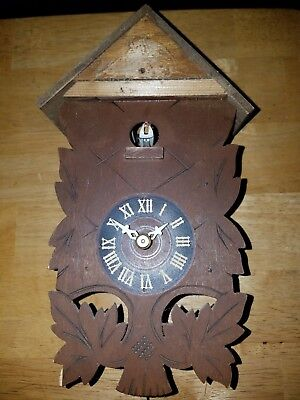 Antique Black Forest Cuckoo Clock Single Weight Needs Repairs