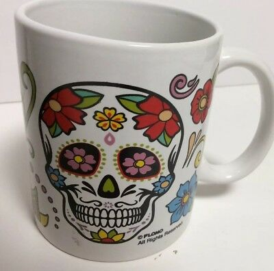Halloween Mug, Day Of The Dead Skull