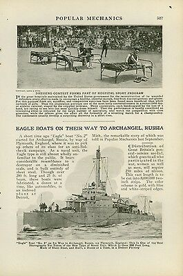 1919 Magazine Article Eagle Naval Ship Traveling from England to Russia Navy