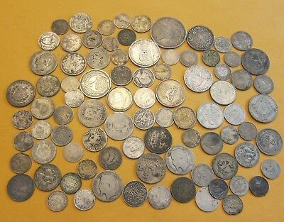 World Silver Lot Set Collection Mixed Coins Misc 247.7 Grams Gr