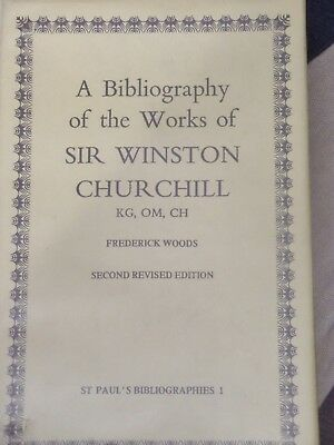 Churchill: Bibliography of the Works of SWC: 1979. Woods V.Good/Very Good