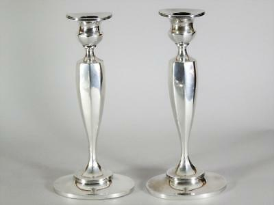 """Pair of Tiffany & Co Sterling Silver 9.25"""" Candlesticks"""