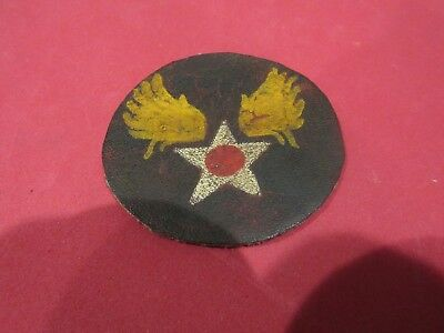 "3"" WW 2 US Army Air Forces Leather Patch ORIGINAL"