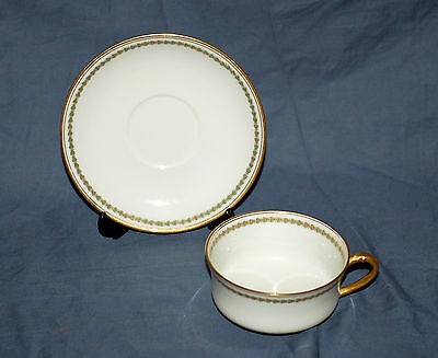 Cup and Saucer Set  Haviland China Limoges France  Sch 587