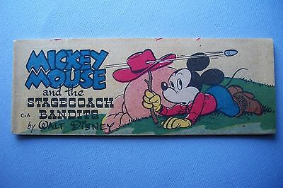 1951 Mickey Mouse and the Stagecoach Bandits Comic