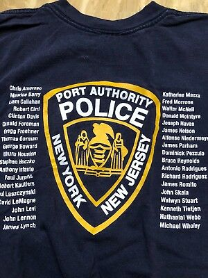 Port Authority Police Twin Towers 9-11Always Honored Never Forgotten Shirt