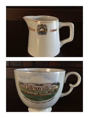 Souvenir Cup & Creamer Jug, 1950s Old Federal Parliament House Canberra