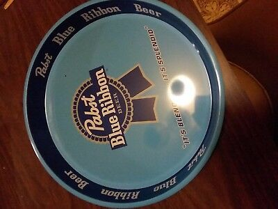 pabst blue ribbon  tin serving tray PBR beer