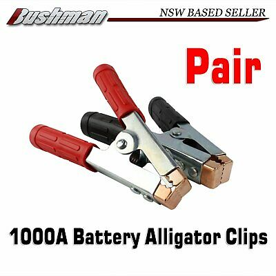 1000A Jumper Leads Alligator Clips Connector Battery Test Clamp Heavy Duty 2pcs