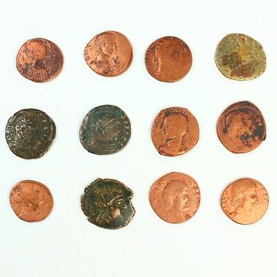 Group of 12 Ancient Roman Barbarian Bronze Nummis c. 250 - 300 A.D. - 3125