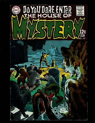 House Of Mystery 177 F- 5.5 Suspense Horror Cain Hosts Curse Of The Cat Adams