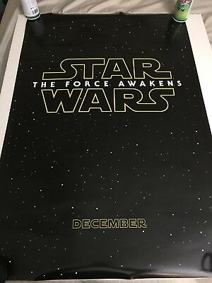Star Wars The Force Awakens Advanced Teaser Double Sided DS 27x40 US Poster