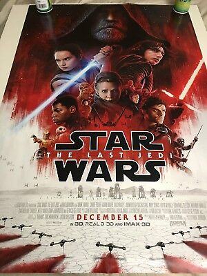 Star Wars The Last Jedi Final Theatrical Double Sided DS 27x40 US Poster