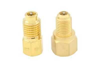 """Set R134a to R12 & R12 to R134a, Connect Adapters 1/4"""" Female Flare x 1/2"""" Male"""