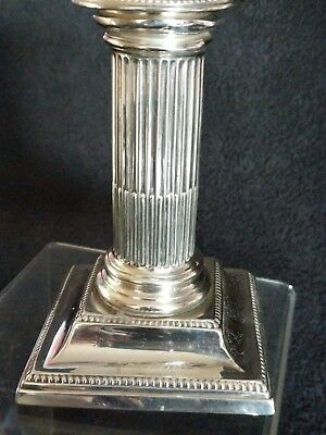 antique solid silver CORINTHIAN COLUMN   CANDLE STICK 1910
