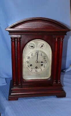 German Gustav Becker Antique Bracket Clock Westminster 100% Original Runs Great