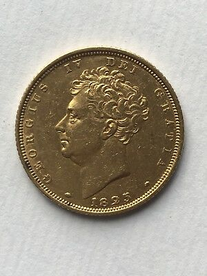 1825 King george IV Gold Bare Head Sovereign
