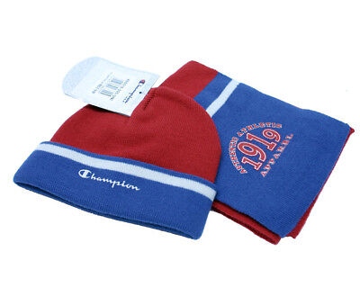 Champion SET JR GORRO+BUFANDA Color  Rojo/Azul mod. 800518
