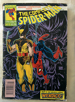 "The Complete Spider-man ""Deep In The Woods Lurks Wendigo"" Marvel Comics 1991"