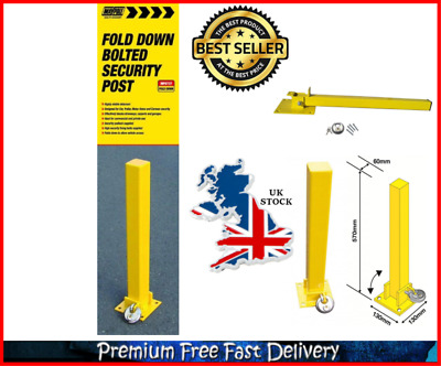 Security Post Bolt Type Fold Down Locakable Parking Barrier Car Park Driveway UK