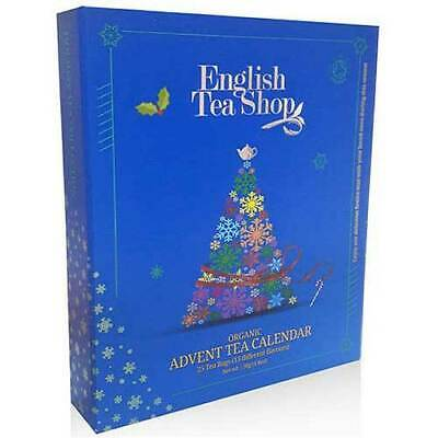 ENGLISH TEA SHOP Organic Book Style Advent Calendar Blue Gift Pack