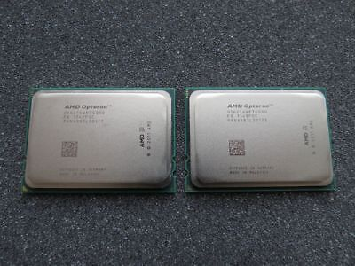 Matched Pair 2x AMD Opteron 6276 16-Core Socket G34 2.3GHz OS6276WKTGGGU CPU