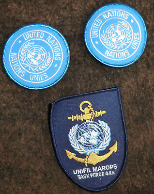 3 x Aufnäher Patch Unifil MAROPS United Nations