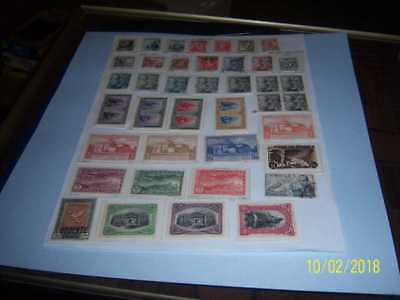 Vintage Old Time Lot Of Spain Overprints And Back Of Book Stamps X 50