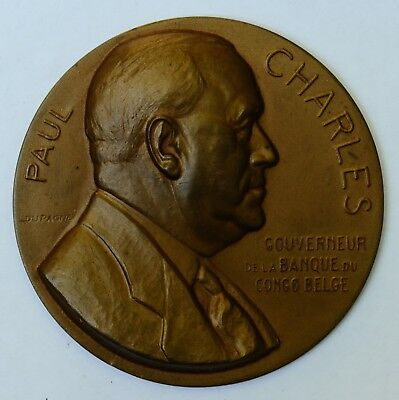 Médaille Medal Congo Dupagne 1951 Banque Bank Paul Charles colonial