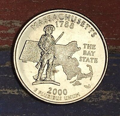 2000-D  Massachusetts State Quarter Collector Coin.
